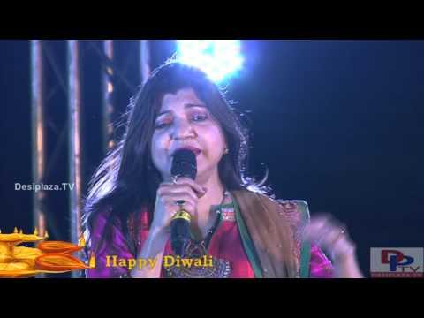 Alka Yagnik singing Tip Tip Barsa Paani song at DFWICS Diwali Mela 2015 at Dallas