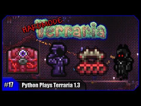 Python Plays Terraria    Biome Shielding & The Crimson Mimic!    Terraria 1.3 PC Let's Play [#17]