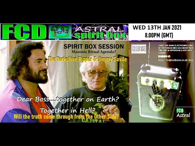 Yorkshire Ripper & Jimmy Savile FCD session Jan 2021