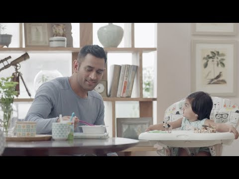 Breakfast Time With Dad   MS Dhoni   Exide Life Insurance   Partnerships For Life