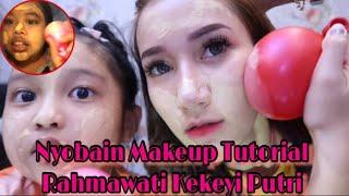 Gambar cover Challenge 25k Makeup Ala Rahmawati Kekeyi Pake Balon.. Hasilnya?!! || Marisha Chacha