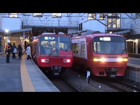 休日夕方の名鉄犬山駅 Japan Aichi Nagoya Railroad Inuyama Station