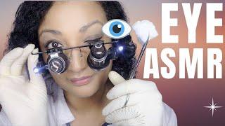ASMR eye exam medical check up roleplay *close up eye check and vision test