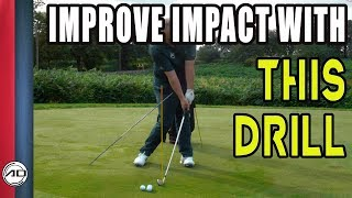 Improve Impact Position In The Golf Swing - Amazing Drill