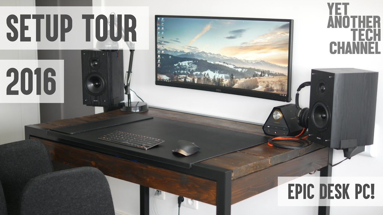 Desk Setup Tour Late 2017 Epic Pc Office Room You