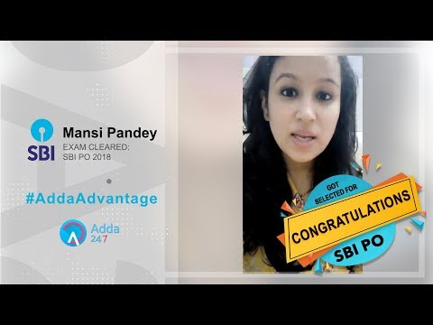 Achievers Adda | Success Story Of MANSI PANDEY | Selected SBI PO 2018 | Congratulations