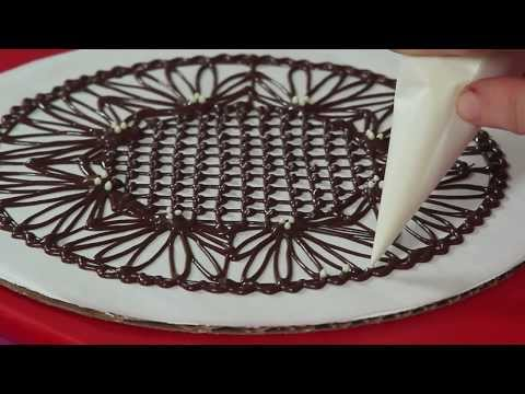 How to Make Chocolate Lace Doilies