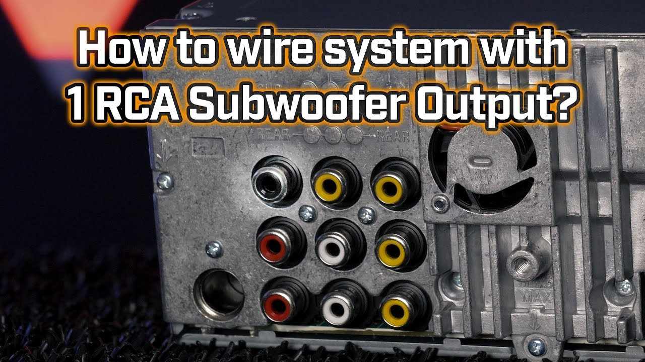 Wiring Subwoofer with only One Pre-Amp Output? on