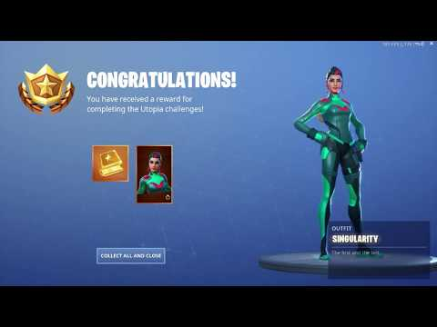 Unlocking Singularity Skin in Fortnite (SECRET SEASON 9 FORTBYTE SKIN)