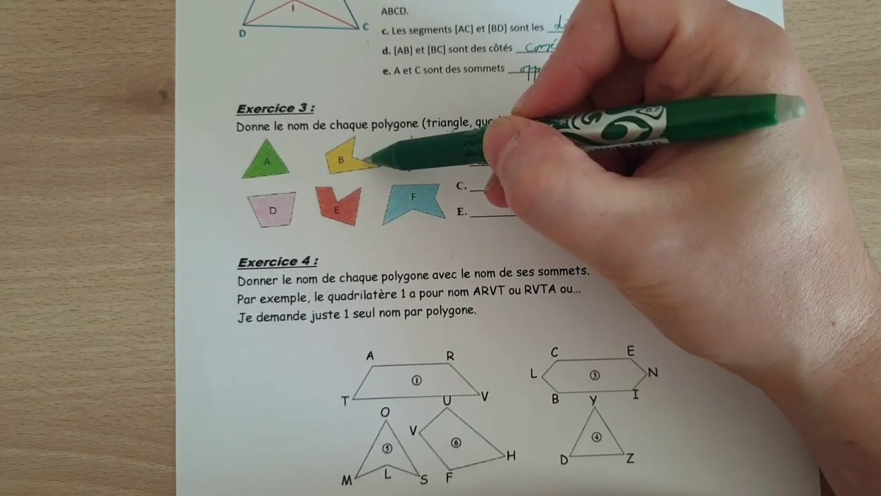Correction Des Exercices Sur Les Polygones - YouTube