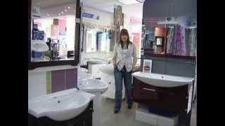Модная мебель в ванную: стекло, белый цвет, хром.(Мода на мебель в ванную меняется, как и все остальное. Стеклянная мебель GEMELLI - последний писк моды. Белая..., 2010-01-27T18:48:23.000Z)