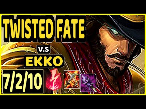 DOPA (APDO) (TWISTED FATE) vs EKKO - 7/2/10 KDA MID GAMEPLAY - KR Ranked DIAMOND