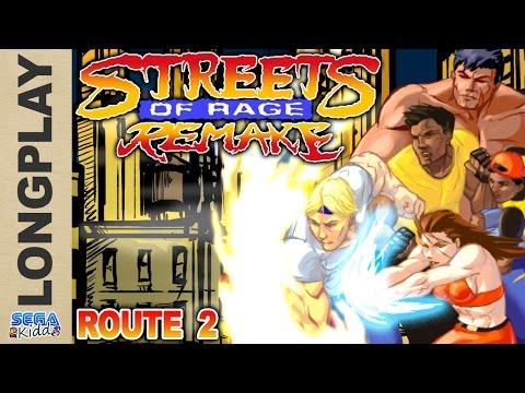 Streets of Rage Remake (Route 2) [PC Longplay] - SEGA Kidd
