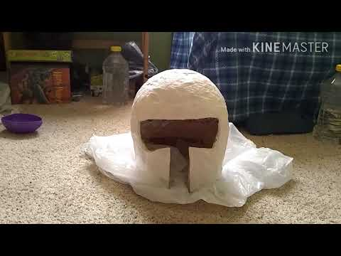 Paper Mache Helmet Pt. 2; another show around but getting there