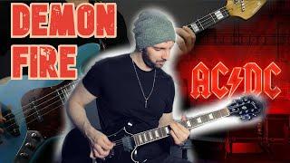 AC/DC Demon Fire Full Instrumental Guitar + BASS Cover!