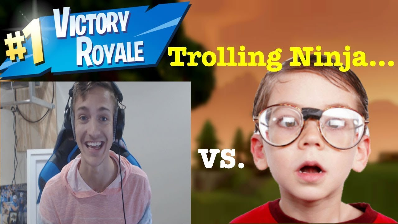 d75cdc2f3715 NINJA GETS TROLLED BY 7 YEAR OLD!! (FORTNITE BATTLE ROYALE) - YouTube