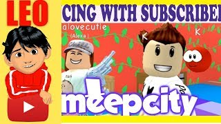 ROBLOX MEEP CITY GIANT HOUSE TOUR - DANCE WITH SUBSCRIBERS