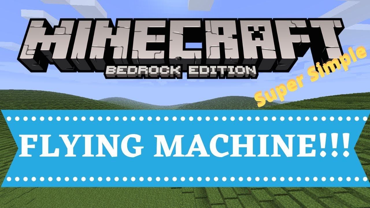 Minecraft Flying Machine Bedrock Edition 1 16 Youtube Bedrock Minecraft Designs Minecraft