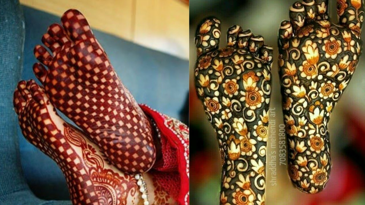 Best mehndi designs on the sole of foot