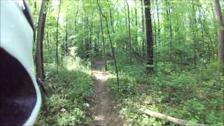 Mountain Biking in Robert E Lee Park.wmv