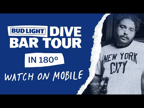 180° Cam - Bud Light Dive Bar Tour with Post Malone - New York