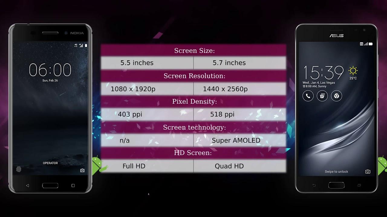 nokia 6 vs asus zenfone ar - phone comparison - youtube