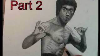 How to Draw Bruce Lee Step by Step Part 2