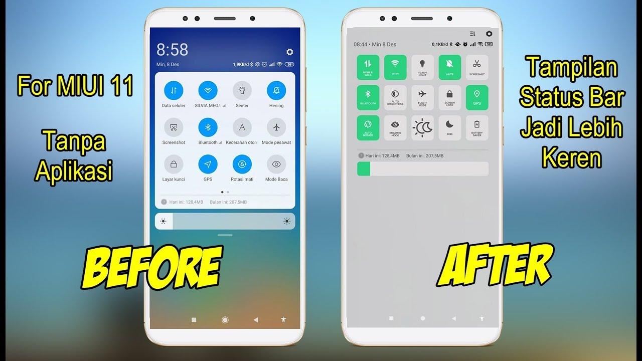 Cara Mengubah Tampilan Status Bar Menjadi Keren Di Xiaomi Miui 11 Youtube