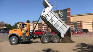 Dump Truck Dumping Its Load