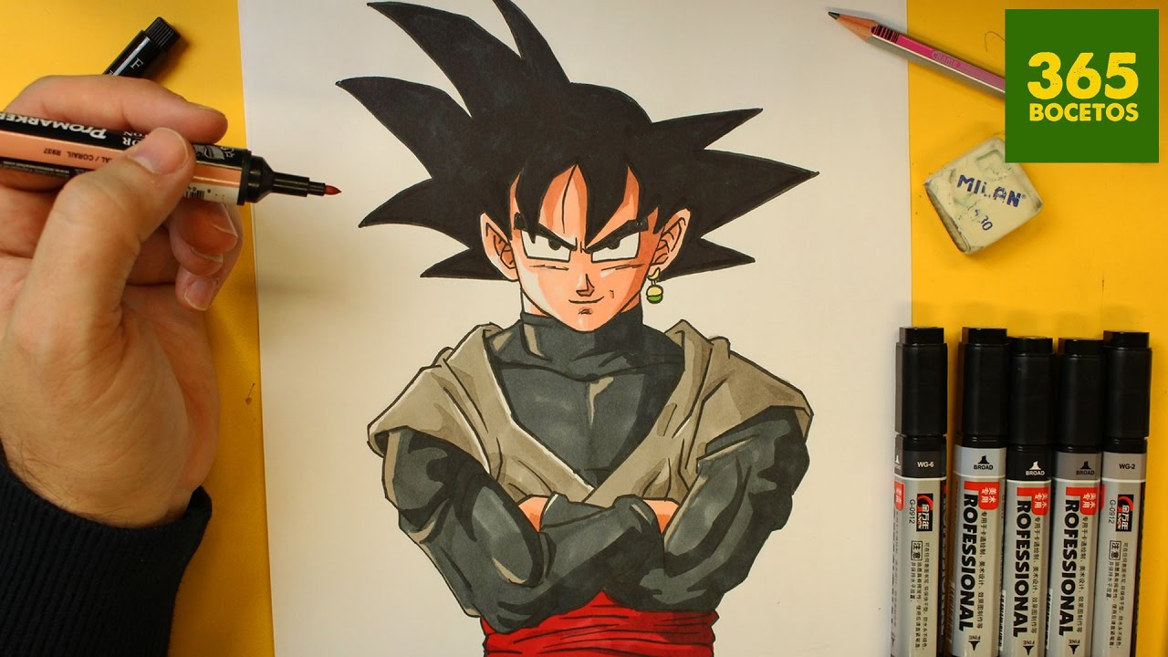 COMO DIBUJAR A GOKU BLACK PASO A PASO - How to draw Goku ...