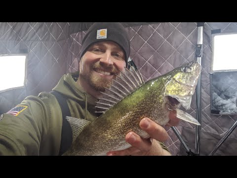 Minnesota Walleye Fishing! Ice Fishing Walleyes! LOTS Of Over-Slot Fish!