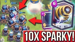 10X SPARKY APOKALYPSE! | Sparky / Funki Spiegeln + Update! | Clash Royale deutsch