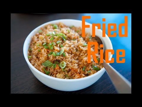 Chinese Style Fried Brown Rice - Easy Fried Rice --The Frugal Chef