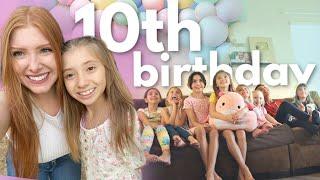 Lilia's 10th BIRTHDAY sleepover w/ 10 GIRLS! (help)