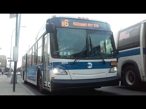 [MTA]: B6 Local / Limited Bus Action @ Bay Parkway &
