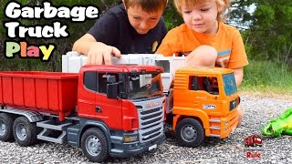 Garbage Truck Videos For Children l Mighty Machines At Work l Garbage Trucks Rule