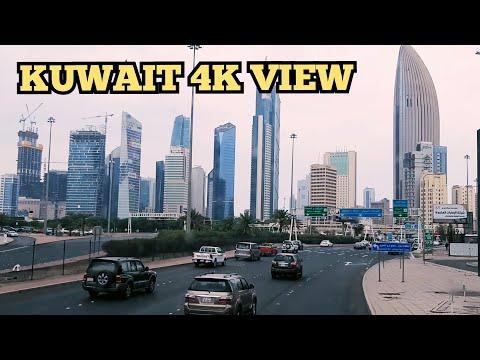 Kuwait City 4K Beautiful Road View   Road View  