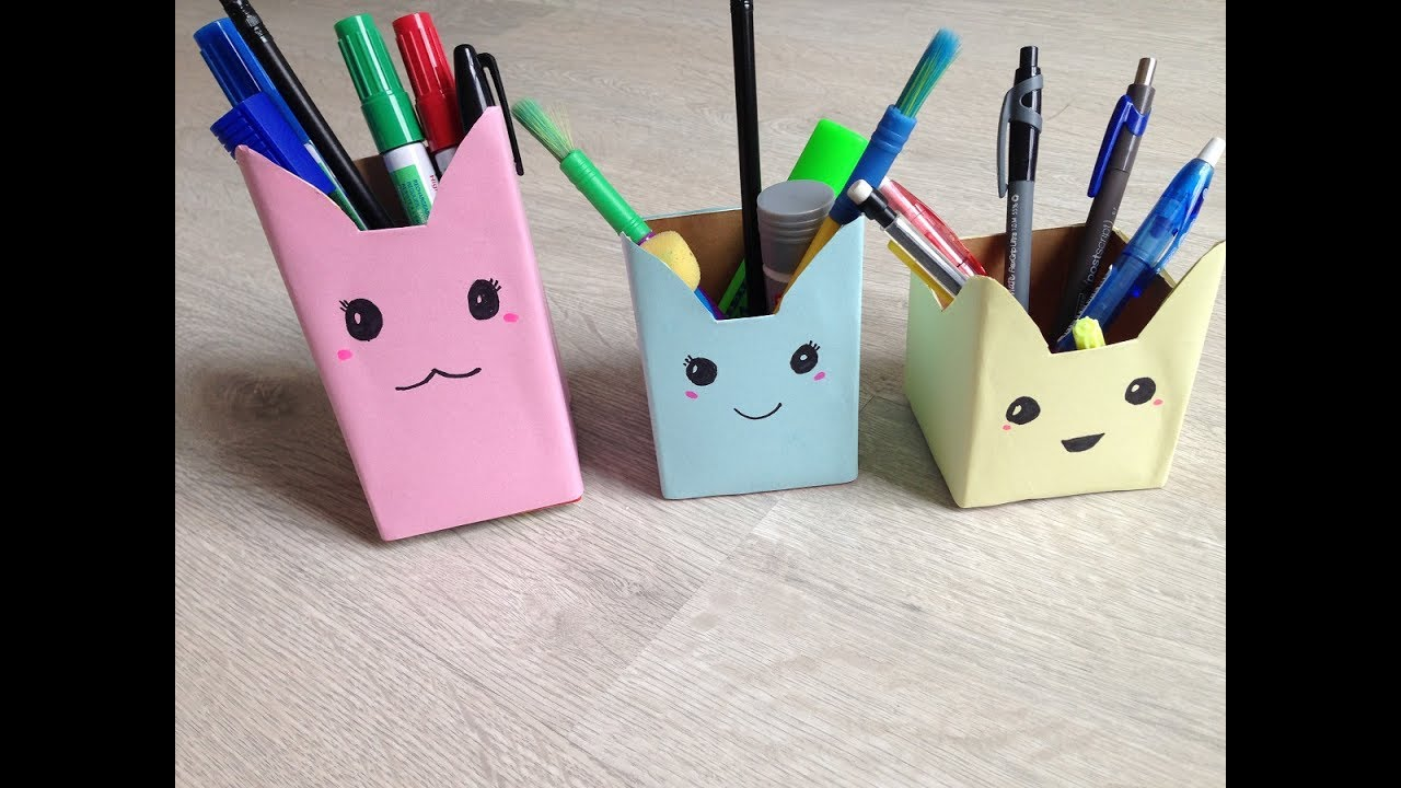 How to make a pencil holder out of construction paper