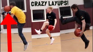 OLD MEN *TRY* TO DO CRAZY LAYUPS!