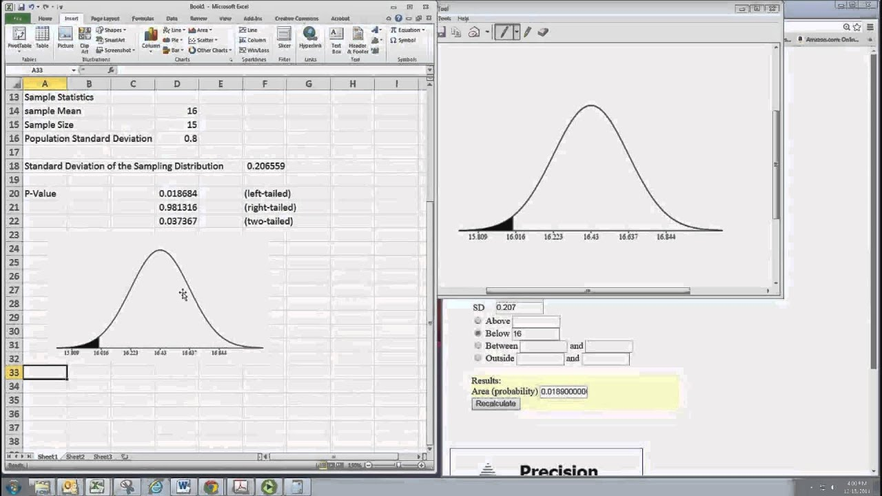 Nice Hypothesis Testing Excel Template Images >> Hypothesis Testing ...