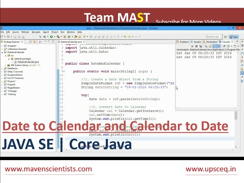 Java  - Date to Calendar and Calendar to Date Conversion | Team MAST
