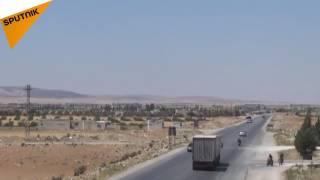 بالفيديو...الجيش السوري يحصن طريق أثريا خناصر ويدخل حدود الرقة