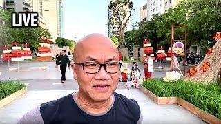 Chuẩn bị giỗ tổ Vua Hùng trên phố đi bộ Nguyễn Huệ, Saigon