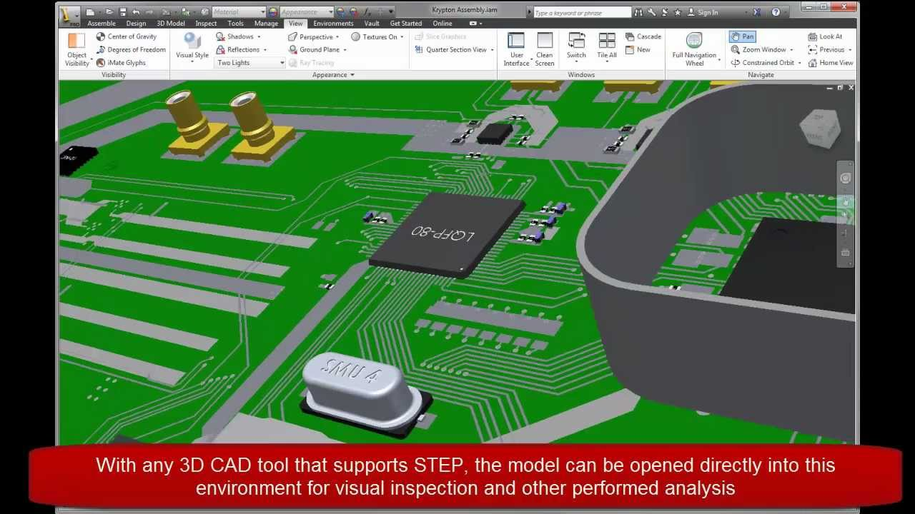 OrCAD 16 6: 3D Design & Visualization with STEP Model Support