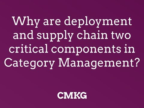 Why are deployment and supply chain two critical components in category management