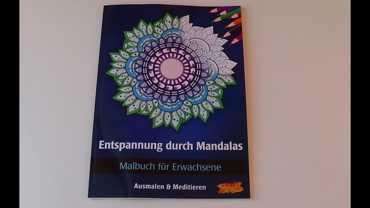 Entspannung durch Mandalas Malbuch für Erwachsene Buchvorstellung Flip Through