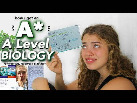 How I Got An A* In A Level Biology. (the Struggle) || Revision Tips, Resources And Advice!