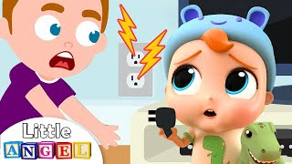 Baby Learns to Play Safe | Little Angel Kids Songs & Nursery Rhymes