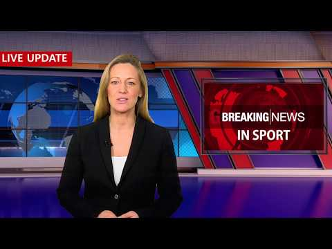 Sports Breaking News - Blue Studio Background