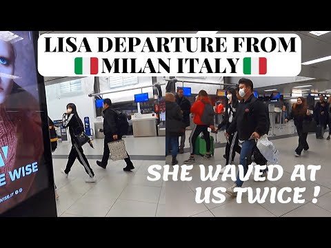 BLACKPINK LISA Departure At Milan Airport | Fanboy Vlog Part 2